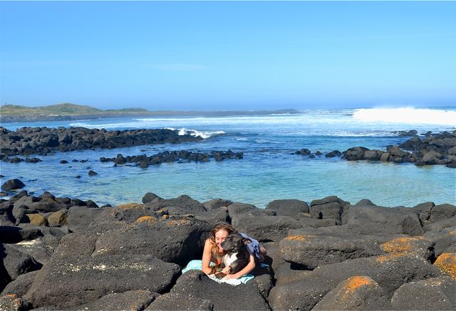 Port Fairy rockpool cuddles