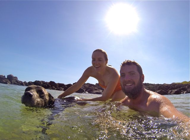 Port Fairy rockpool family photo