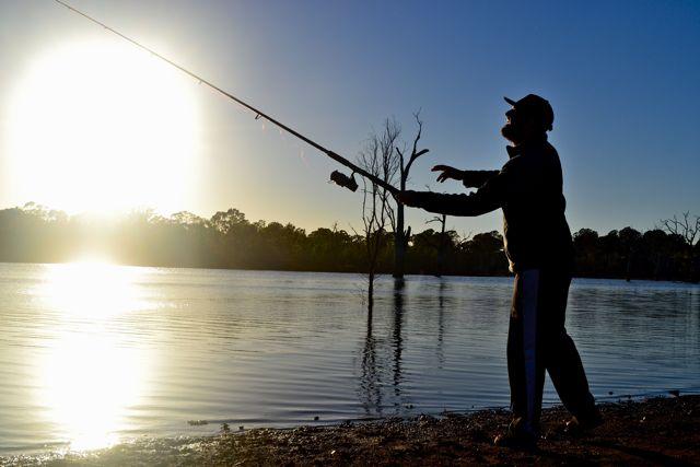Fishing at Rocklands Reservoir
