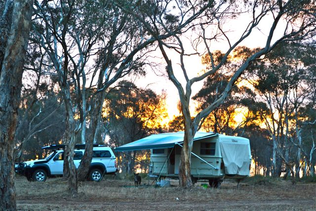 Sunset camping at Glendinning Campground
