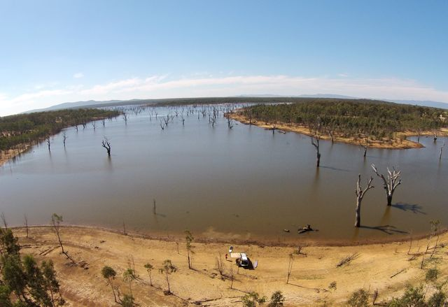 Aerial view Rocklands Reservoir