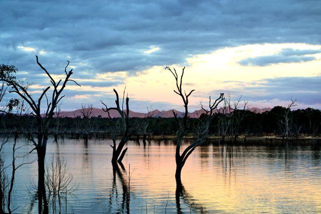 Rocklands Reservoir twilight