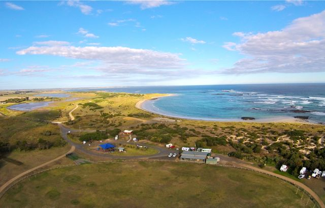Killarney Beach Caravan Park aerial view