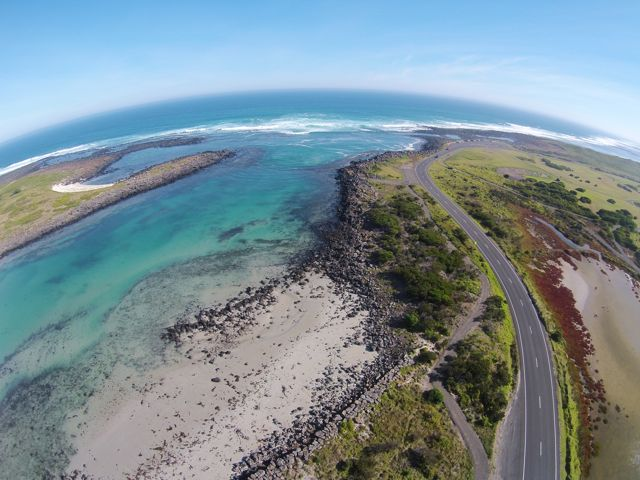 Port Fairy aerial view