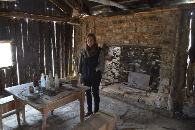 Inside Old Moxan's Hut, which was permanently occupied until the early 1960s