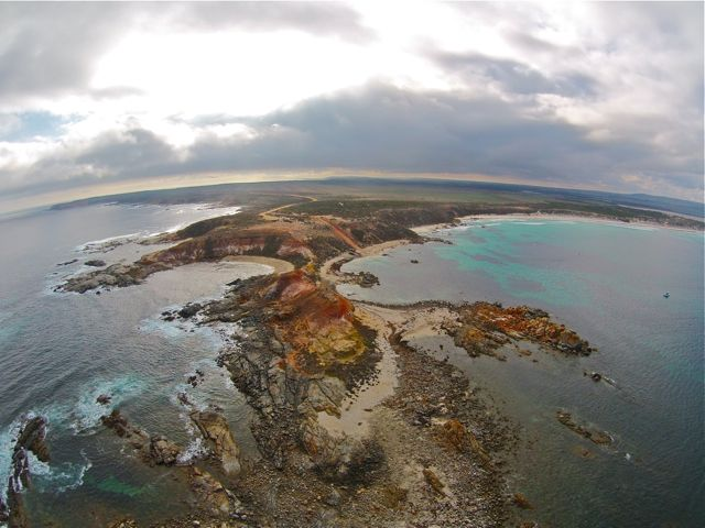 eyre-peninsula-west-coast-point-drummond-caravan-drone-2