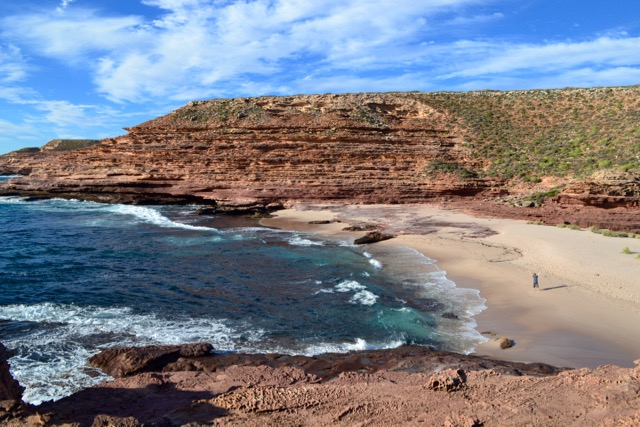 One of the many beaches along the Coastal Cliffs drive