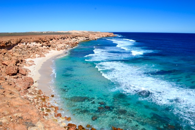 Pristine coastline at Gnaraloo Station