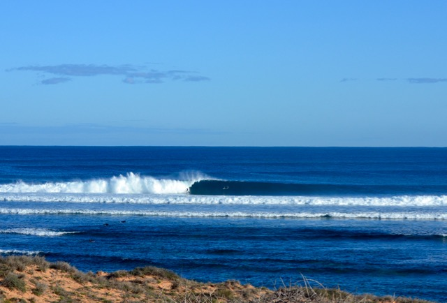 Unknown surfer gets a bigger one the following morning