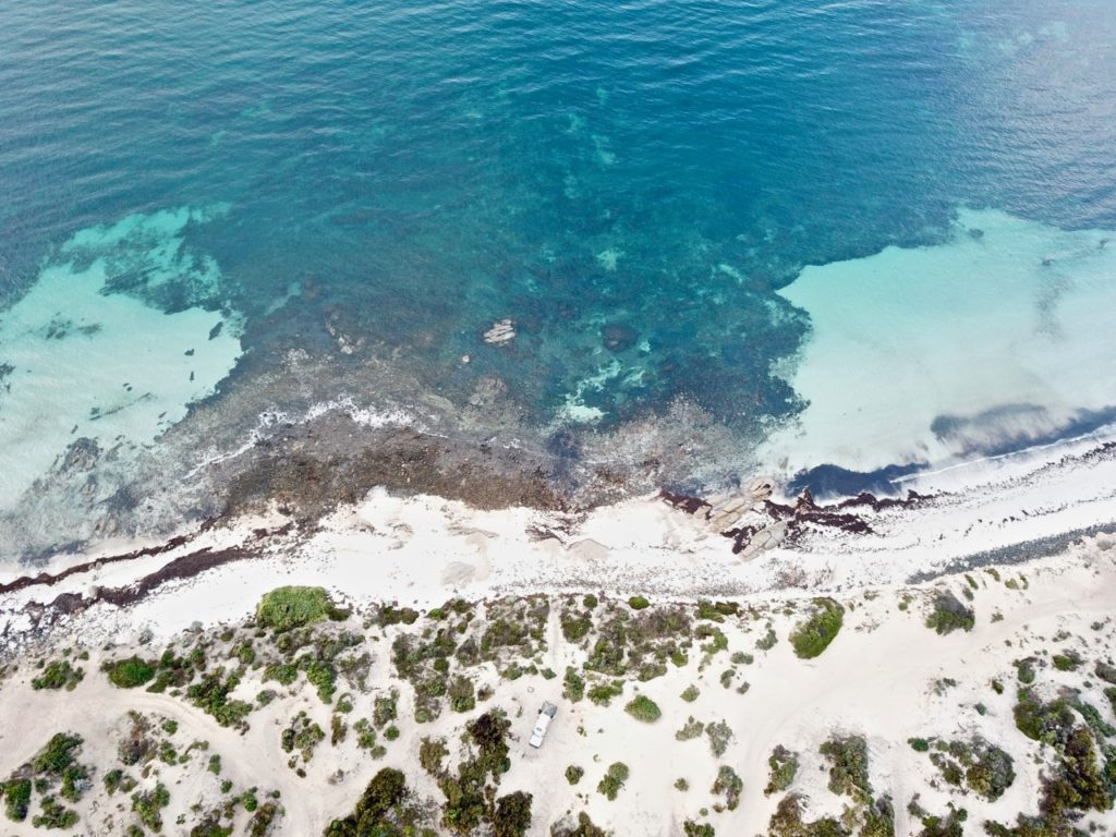 Aerial of Moonlight Bay on the Eyre Peninsula